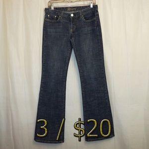 3/$20 BEBE Boot Cut Jeans 29P 29 (X 32) Blue